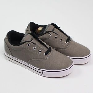 Heelys Launch grey canvas roller shoes oxford